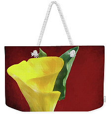 Calla Lily - Yellow Weekender Tote Bag by Shirley Stalter