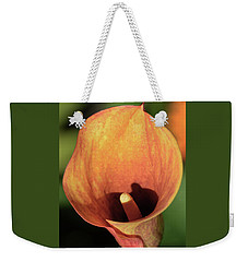 Weekender Tote Bag featuring the photograph Calla Sunbathing. by Terence Davis