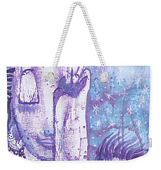 Weekender Tote Bag featuring the mixed media Calling Upon The Spirit Animals by Prerna Poojara