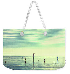 Weekender Tote Bag featuring the photograph Calm Bayshore Morning N0 1 by Gary Slawsky