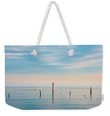 Weekender Tote Bag featuring the photograph Calm Bayshore Morning N0 3 by Gary Slawsky