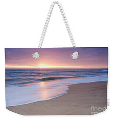 Calm Beach Waves During Sunset Weekender Tote Bag