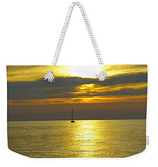 Calm Before Sunset Over Lake Erie Weekender Tote Bag by Donald C Morgan