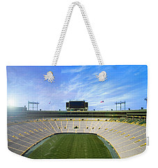 Weekender Tote Bag featuring the photograph Calm Before The Game by Joel Witmeyer
