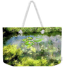 Weekender Tote Bag featuring the photograph Calm by Desline Vitto