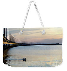 Calm Evening By The Bridge Weekender Tote Bag