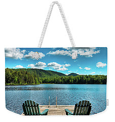 Calm In The Adirondacks Weekender Tote Bag by David Patterson