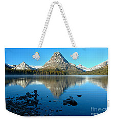 Weekender Tote Bag featuring the photograph Calm Morning At 2 Medicine by Adam Jewell