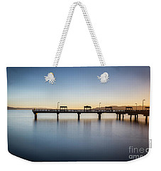 Calm Morning At The Pier Weekender Tote Bag
