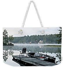Calm Morning On Little Sebago Lake Weekender Tote Bag