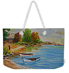 Calm  Autumn Nature Weekender Tote Bag