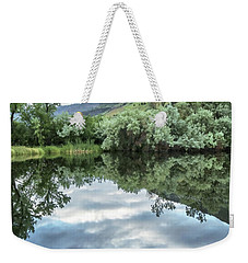 Calm Pond - Cloud Reflections Weekender Tote Bag