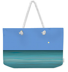 Weekender Tote Bag featuring the digital art Calm Sea - Square by Val Arie