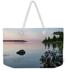Calm Water At Lake Huron Crystal Point Weekender Tote Bag