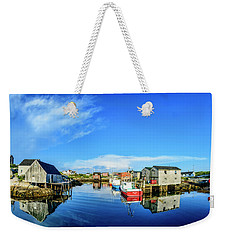 Calm Water At Peggys Cove Weekender Tote Bag