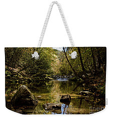 Weekender Tote Bag featuring the photograph Calmer Water by Douglas Stucky