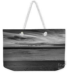Weekender Tote Bag featuring the photograph Calming Seas by Linda Lees