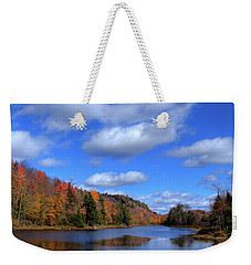 Calmness On Bald Mountain Pond Weekender Tote Bag by David Patterson