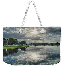 Weekender Tote Bag featuring the photograph Caloosahatchee At Daybreak by Judy Hall-Folde