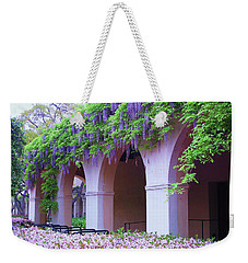 Weekender Tote Bag featuring the photograph Caltech Wisteria by Ram Vasudev