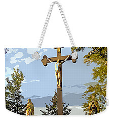 Weekender Tote Bag featuring the photograph Calvary Group - Parkstein by Juergen Weiss
