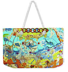 Weekender Tote Bag featuring the painting Calypso by Desiree Paquette