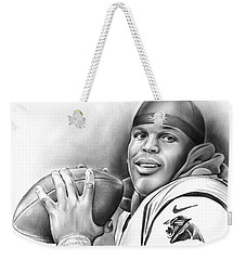 Cam Newton Weekender Tote Bag by Greg Joens