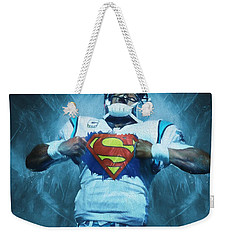 Cam Newton Superman Weekender Tote Bag by Dan Sproul