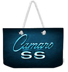 Weekender Tote Bag featuring the photograph Camaro S S Emblem by Mike McGlothlen