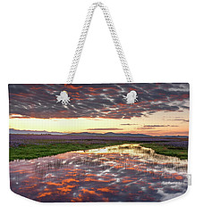 Weekender Tote Bag featuring the photograph Camas Spring Sunrise by Leland D Howard
