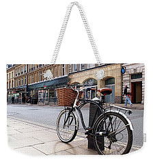 Weekender Tote Bag featuring the photograph The Wheels Of Justice - Cambridge Magistrates Court by Gill Billington