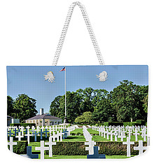 Weekender Tote Bag featuring the photograph Cambridge England American Cemetery by Alan Toepfer