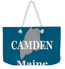 Weekender Tote Bag featuring the photograph Camden Maine State City And Town Pride  by Keith Webber Jr
