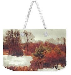 Came An Early Snow Weekender Tote Bag