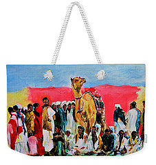 Camel Festival Weekender Tote Bag by Khalid Saeed