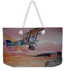 Camel Over Water Weekender Tote Bag by Ray Agius