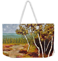 Camel Top Birches Weekender Tote Bag