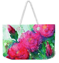 Camellia Abstract Weekender Tote Bag