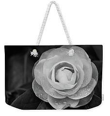Camellia Black And White Weekender Tote Bag
