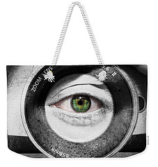Camera Face Weekender Tote Bag by Semmick Photo