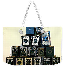 Camera Stack Weekender Tote Bag by Keith Hawley