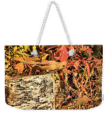 Camo Bird Weekender Tote Bag by Debbie Stahre