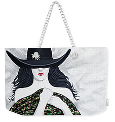 Weekender Tote Bag featuring the painting Camo by Lance Headlee
