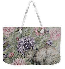 Camouflaged Weekender Tote Bag by Kim Tran