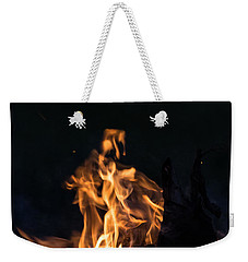 Camp Fire And Full Moon Weekender Tote Bag