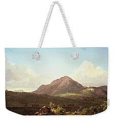 Camp Fire In The Maine Wilderness Weekender Tote Bag