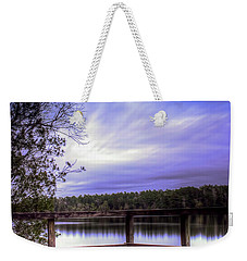 Weekender Tote Bag featuring the photograph Camp Ground by Maddalena McDonald