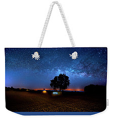 Weekender Tote Bag featuring the photograph Camp Milky Way by Mark Andrew Thomas