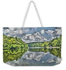 Camp Mountain Lake Weekender Tote Bag