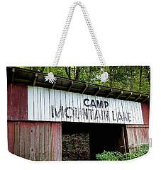 Camp Mountain Lake Horse Stables - Vintage America Weekender Tote Bag